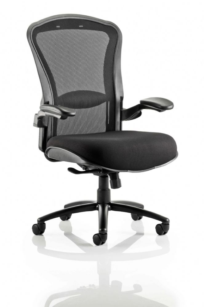 Houston Heavy Duty Extra Large Dimensions Operator Chair Black Backrest Various Seat Colours - Arms